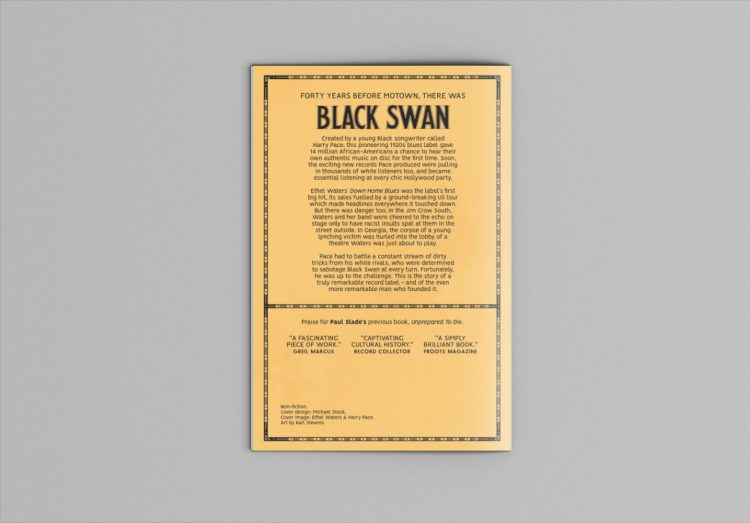 Black Swan Blues (back cover)